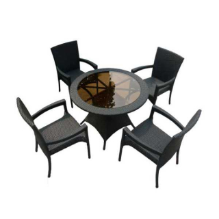 2017 SGD-13012B rattan synthetic garden table chairs
